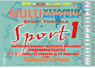 Sport 1 - Multifunktsionaalne dieetkontsentraat spordiharrastajatele
